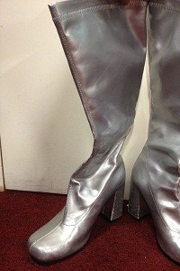 Silver go go Boots