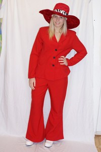 Red Flares Suit