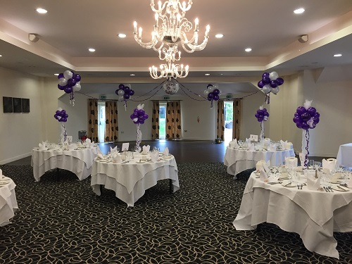 Purple And White Decorations