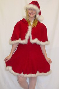 Miss santa fleece with cape