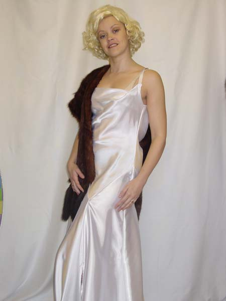 White Satin Dress