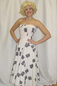 1950's Dress (White and Black)