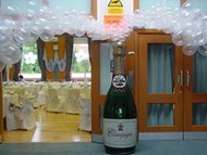 6ft Champagne Bottle with Bubbles