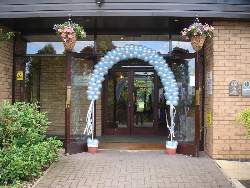 spiral aisle balloon arches