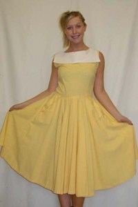 1950's Dress (Yellow)