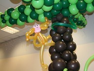 Balloon Palm Tree & Monkey